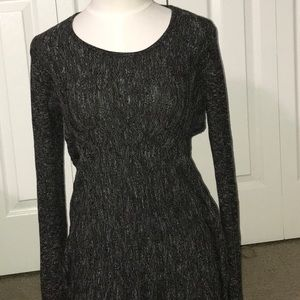 Max studio xl tunic sweater gray